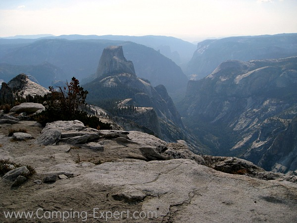 view of half dome yosemite from clouds rest