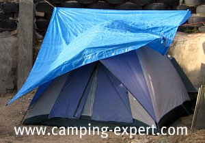 Bigger is better especially as a shelter but too big can be wellu2026 too big!. I recommend a good size to be about 10feetx12 feet. & Camping Tarp Ideas and Easy Set-up