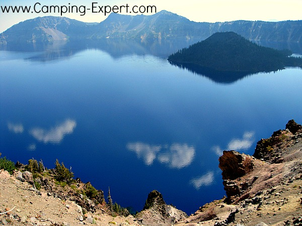 another view of wizard island at crater lake